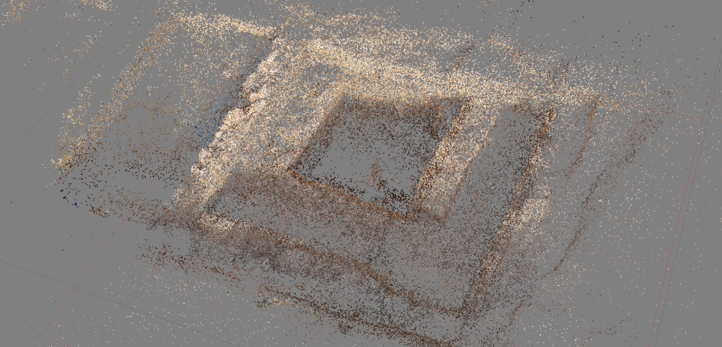 Point cloud with colour information