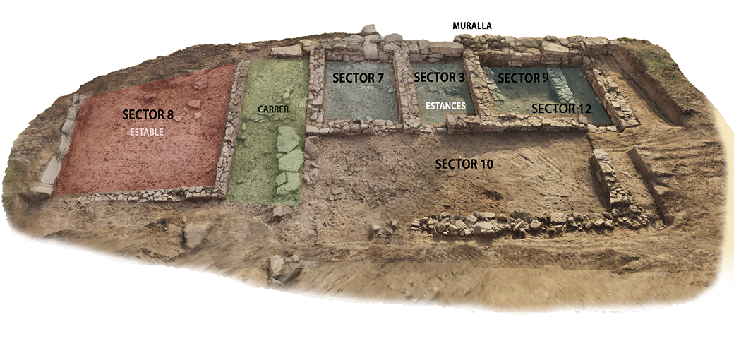 Photogrammetric study of the different constructions excavated at the north-eastern end of the settlement